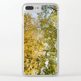 two different types of trees Clear iPhone Case