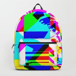 Glitch geometric pattern design artwork Backpack