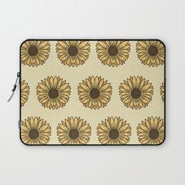 Retro Pop Sunflowers x Pastel Yellow Laptop Sleeve