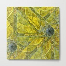 Abstract Yellow-Gold Sundrops Metal Print