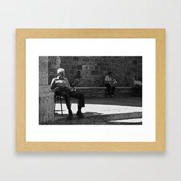 uomo italiano Framed Art Print