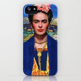 FRIDA COSMIC BLUES iPhone Case
