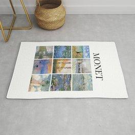 Monet collage Rug