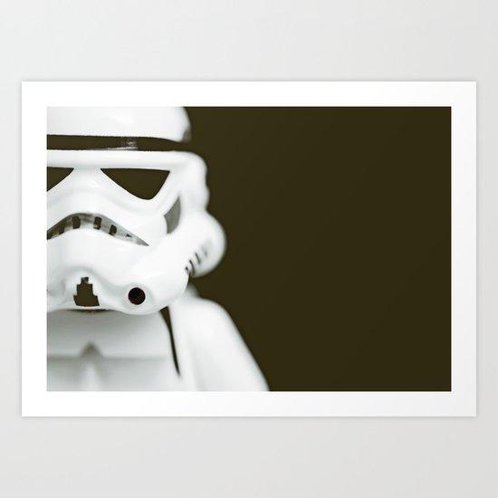 trooper portrait Art Print