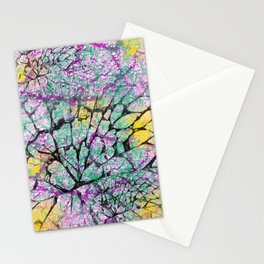 Colourfully Cracked Stationery Cards