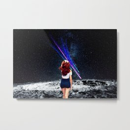 Space Woman Metal Print