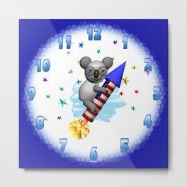 Forth of July koala clock  Metal Print