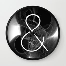 Dark Math. Ampersand (&) Wall Clock