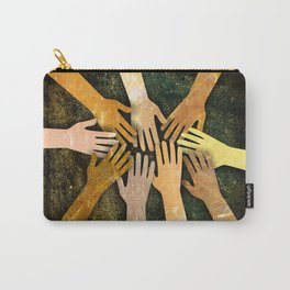 Grunge Community of Hands Carry-All Pouch