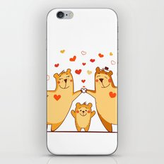 Family of bears iPhone & iPod Skin
