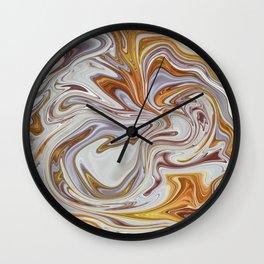 Marmalade Marble - Gold Wall Clock