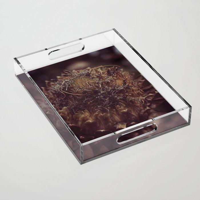 Dead Flower Acrylic Tray