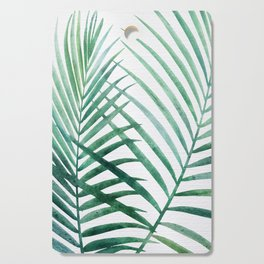 Emerald Palm Fronds Watercolor Cutting Board