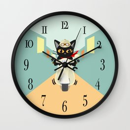 Scooter in the town Wall Clock