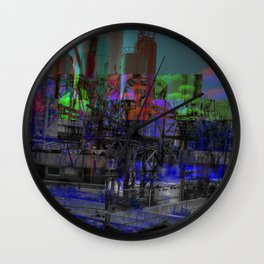 Refinery (Glitch) Wall Clock