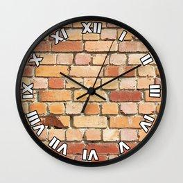 Old Brick Wall Wall Clock