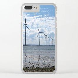 Windenergie ist die Zukunft Clear iPhone Case
