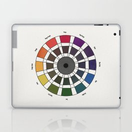 Rouget de Lisle - Table Chromatique 1838, Remake, renewed version with text Laptop & iPad Skin