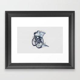 rickshaw Framed Art Print