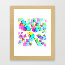 Multiple Cubes Framed Art Print