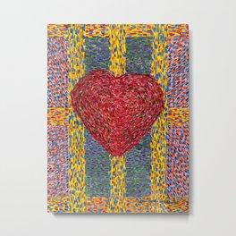 High Energy Heart 5 Metal Print