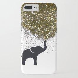 elephant w/ glitter iPhone Case