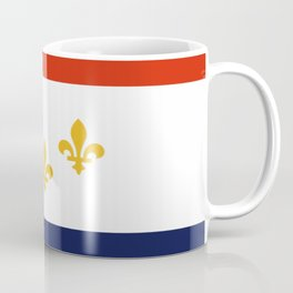 flag of new orleans,NOLA, Crescent City,Big Easy, Nawlins, jazz,Lousiana,french,cajun,treme Coffee Mug
