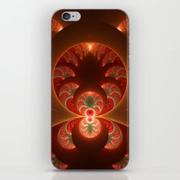 Fractal Mysterious, Warm Colors Are Shining iPhone Skin