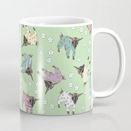 Pajama'd Baby Goats - Green Coffee Mug