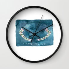 i love you much Wall Clock