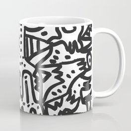 The cool  king Black and white Street Art Graffiti Coffee Mug