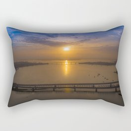 Sunrise Over Bridges Rectangular Pillow