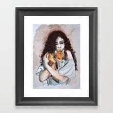 My fox, my love Framed Art Print