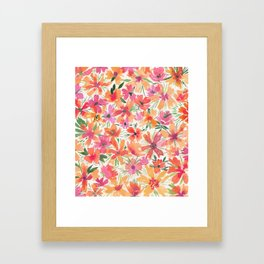Jaunty Flowers of the Valley Framed Art Print