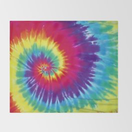 Tie dye hippie Throw Blanket