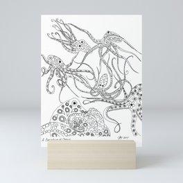 Consortium of Octopi BW Mini Art Print