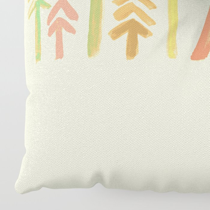 Tepee in the forest Floor Pillow