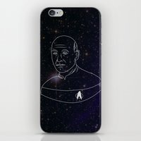 picard iPhone & iPod Skins featuring Captain Jean-Luc Picard by lunsh
