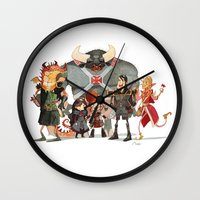 dungeons and dragons Wall Clocks featuring Dungeons and Dragons by Markus Erdt