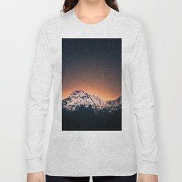 Magical Mountain #galaxy #photography Long Sleeve T-shirt