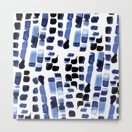 Blue Swatches Metal Print