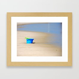 Little Blue Bucket Framed Art Print