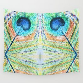 Peacok Feather Abstract Wall Tapestry
