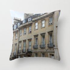 Row of Houses in Bath Throw Pillow