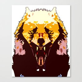 Wolf Icon 02 Canvas Print