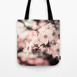 Sweet Spring (White Cherry Blossom) Tote Bag