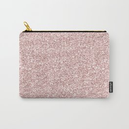 Stylish elegant girly faux rose pink gold glittter pattern Carry-All Pouch