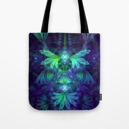 The Clockwork Kite Wings of a Blue-Green Dragonfly Tote Bag