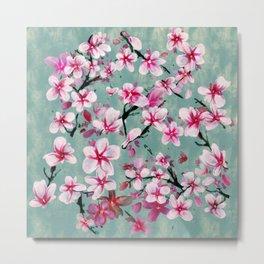 Watercolor Blossoms Metal Print