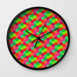 Hexagonal Pattern Wall Clock